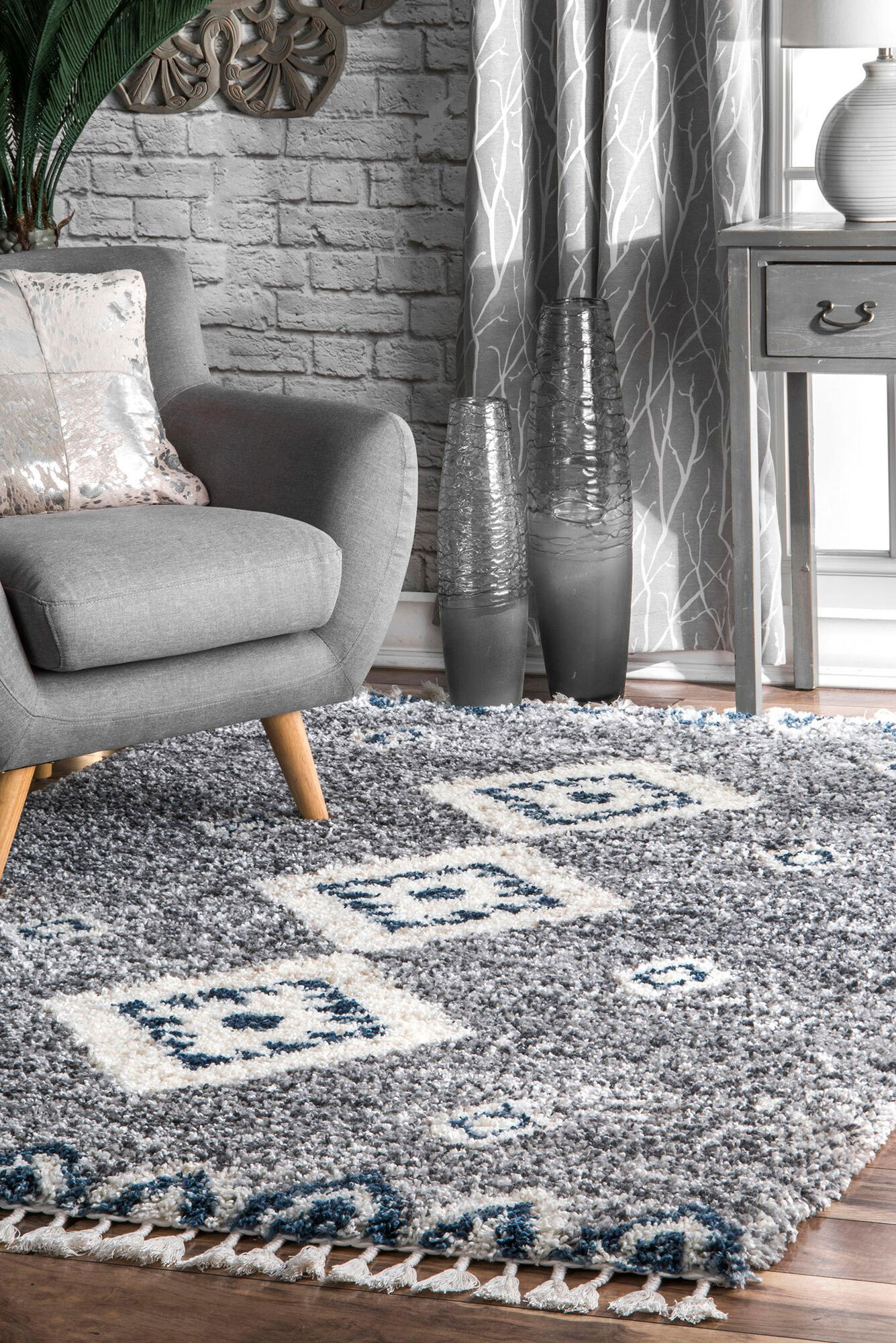 Charles Moroccan Shaggy Rug(Size 150 x 80cm)