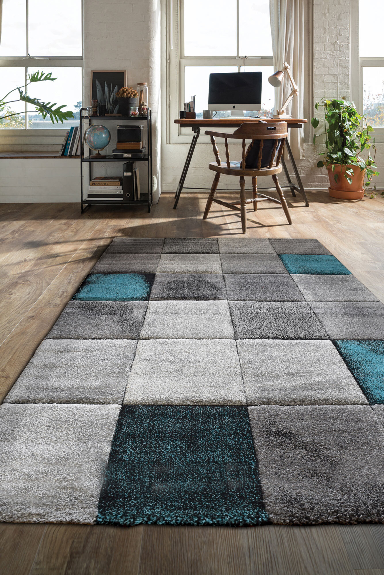 Lucia Modern Abstract Rug(Size 80 x 50cm)