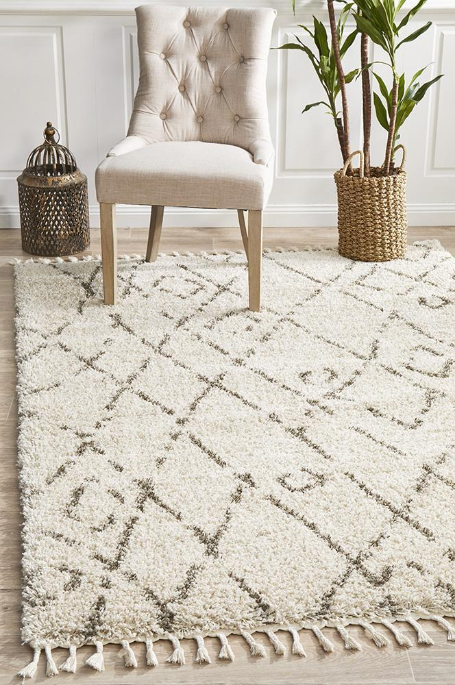 Serena Moroccan Shaggy Rug(Size 300 x 80cm) RUNNER