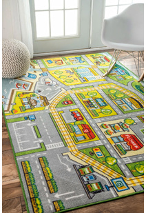 Kid Road Yellow Rug